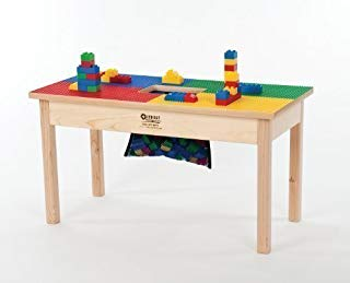 """Lego Compatible Table 32""""x16"""" Solid Hardwood Legs and Side Frames-Built to Last-Made in The USA-Preassembled-Ages 5 and UP"""