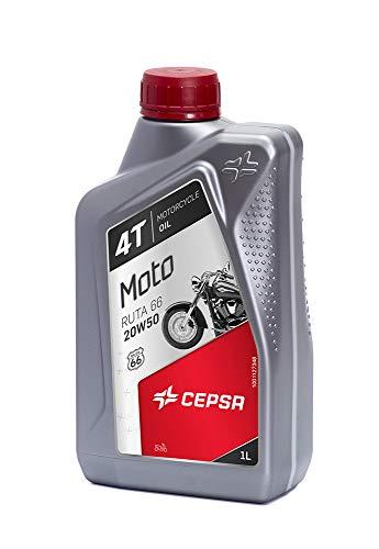 CEPSA Moto Ruta 66 20W50 1L-Lubricante Mineral Multigrado para Motos de 4T