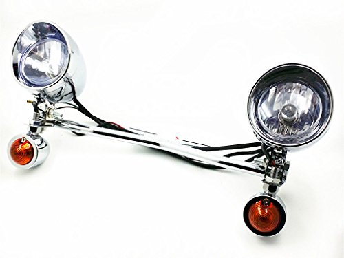 Barra de luz antiniebla con intermitente de conducción para Cruiser Custom Vulcan VN Touring Cruiser Dyna Touring Cruiser V Star Shadow VT VLX