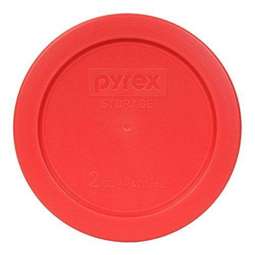 Pyrex 7200-PC Red Round 2 Cup - Tapa para recipiente de cristal (1, rojo)