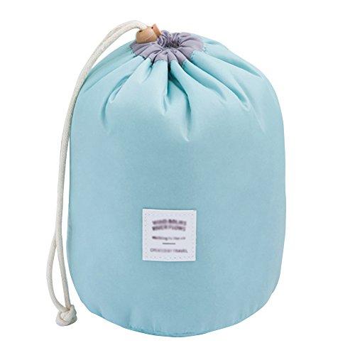 Bodhi2000 Trousse de toilette et maquillage avec cordon de serrage et petite pochette pour les voyages bleu clair taille unique
