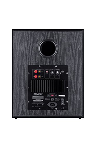 Magnat Monitor Supreme Sub 302 A I Aktiver Frontfire Bassreflex Subwoofer mit hoher Klangqualität I 1 Stück, Farbe:Schwarz