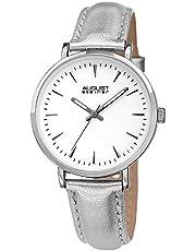 ساعة يد كوارتز للنساء بعرض انالوج وسوار من الجلد من اوغست شتاينر