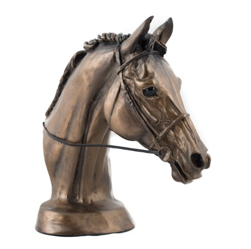 Harriet Glen Cold Cast Bronzen Hars Paard 'EVENTERS HEAD' Beeldhouwwerk/Beeld/Ornament. Mooi cadeau.
