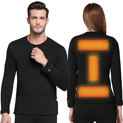 FERNIDA Insulated Heating Underwear Washable USB Electric Heated Thermal Long Sleeve T Shirts or Pants(Battery Not Included)