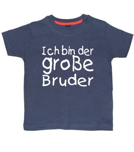 Baby & Kleinkind T-Shirt Marine 110-116 ICH Bin DER GROßE Bruder'