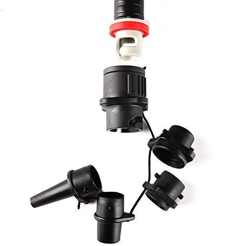 Conjunto de adaptador de válvulas de aire de remo inflable conjunto adaptador de la manguera de la bomba de aire del kayak convertidor de compresor de neumáticos inflable del barco del barco 4 boquill