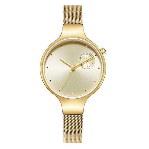 QHG Relojes de Mujer Moda Lady Reloj Reloj de Pulsera Muchachas Reloj Femenino Vestido Cuarzo Movimiento Simple Rhinestone Dial (Color : B)