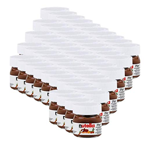 Ferrero Nutella Mini Glas Brotaufstrich Schokolade 25g - Nuss-Nougat (54er Pack)