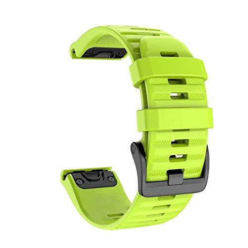 YGGFA Correa para reloj Garmin Fenix 6X 6 6S Pro 5S Plus 935 3 HR de liberación rápida silicona Easyfit correa de muñeca (color verde, tamaño: 22 mm Fenix 6 Pro)