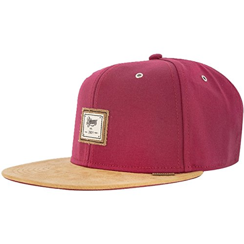 Djinns 10oz Canvas Red Basecap Snapback 6 Panel Kappe Herren Mens