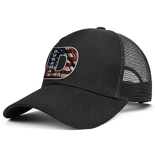 COOLGOOD Adjustable Mesh Back Black Trucker Cap Duramax-V8-engine-logo-Mens Women Cool Rapper Hat