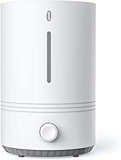 TaoTronics TT-AH027 Top Fill Bedroom Nursery [BPA Free], Ultrasonic Cool Mist Humidifier for Home, Easy to Clean, 17-36 Hours, Auto Shut Off, Blue Mood Light-(4.3L/1.1 Gallon, US 110V, White (Renewed)