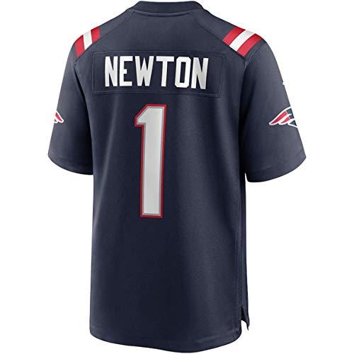 Trestc Cam_Newton Jersey #1 Stitched Jerseys Football Fashion Shirt for Men's/Women's/Youth - Navy