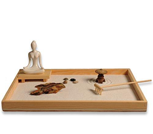 Juego de accesorios y herramientas para jardín Zen de ICNBUYS, madera, A, a,b,c,d,e,f,g,h