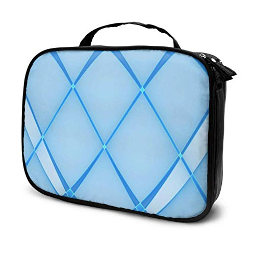 Light Glow Blue Creative Abstract Travel Small Cosmetic Bags for Women Kids Toiletry Bag Girls Man Toiletry Bag Multifunction Printed Pouch for Women