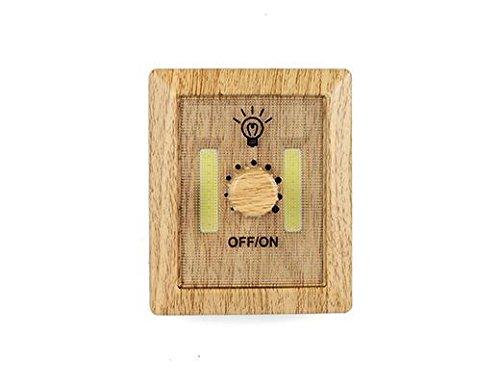 Kikkerland Variateur Lampe en bois, ABS, composants électroniques, marron, 11,5 x 3 x 17 cm
