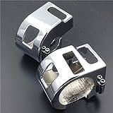 RONGLINGXING Pieces de Sport Motorise Chrome commutateur couvercle du boîtier for Star Yamaha V XVS 650 classique et Silverado for Kawasaki Vulcan 1500 1600 Accessoires moto