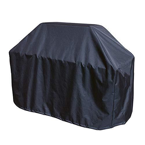 FCZBHT Couverture de Meubles De Plein Air Tissu Oxford Trapézoïdale Couverture De Barbecue, Imperméable Crème Solaire Garde poussière (Couleur : Noir, Taille : 182 * 66 * 130cm)