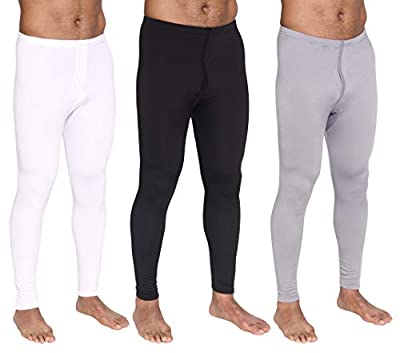 3-Pack: Men's Thermal Underwear Pants Set Warm Long Johns Compression Underpants Leggings Training Tights Active Clothing - Set 1, XL