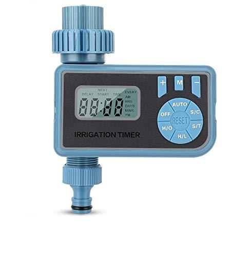 eecoo Programador de Riego Automatico Temporizador de Agua Riego Mangueras Controlador Digital Programable para Rociador de Jardín Sistema de Irrigación con Temporizador