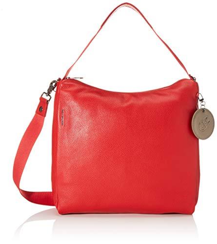 Mandarina Duck Mellow Leather Tracolla/Nero, Bolso de Mano. para Mujer, Rojo (Flame Scarlet), 26x30x9 centimeters (W x H x L)