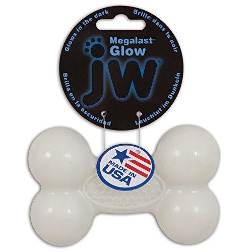JW Pets Megalast Glow Bone Jouet pour Chien Taille M