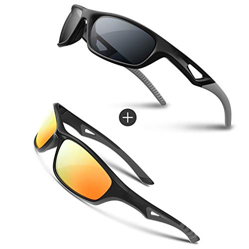 RIVBOS Polarized Sports Sunglasses Driving Glasses shades For Men Women TR90 Unbreakable Frame For Cycling Baseball