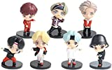 ZXY 7PCS BTS Mini Idol Doll Deluxe Figure Play Set BTS Cake Topper Fingure Personajes Juego De Figuras De Acción Juguetes BTS Party