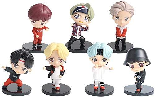 ZXY 7PCS BTS Mini Idol Doll Deluxe Figure Play Set BTS Cake Topper Fingure Personajes Juego De Figuras De Acción Juguetes BTS Party