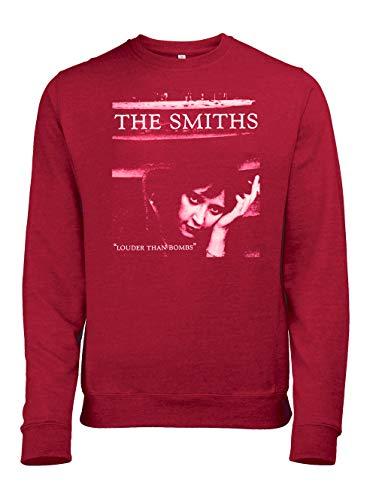 Sudadera The Smiths Louder Than Bombs Rojo Sudadera roja M