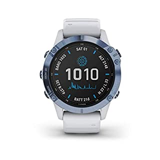 Garmin Fenix 6 Pro Solar, Premium Multisport GPS Smartwatch, Mineral Blue With Whitestone Band (B08CZQPYXT) | Amazon price tracker / tracking, Amazon price history charts, Amazon price watches, Amazon price drop alerts