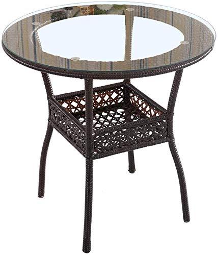 XINTONGDA Casual Mesa de café Mini pequeño Mesa de Mimbre al Aire Libre Sala de Estar Mesa de la Mesa de Centro Moderna Simple de la Ronda Creativa Lado Varias,A