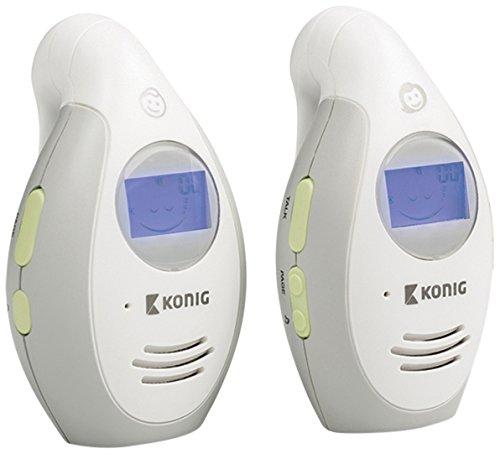 König KN-BM20 DECT babyphone Color blanco vigila bebes - Vigilabebé (DECT babyphone, 250 m, Color blanco, AAA, 8 h, 5 V)