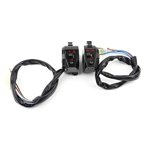 Daytesy Interruptor de Manillar: bocina de Manillar de Motocicleta, luz Alta/Baja, Control de Interruptor de señal de Giro, Lado Izquierdo, Derecho
