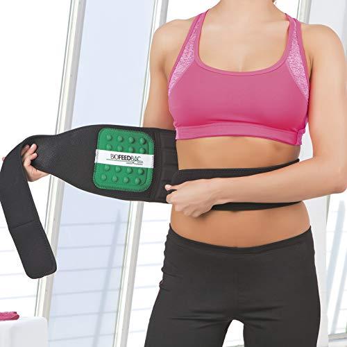 VITALmaxx Rücken-Stützgürtel zur Entlastung des Rückens | Biofeedback-Technologie, Klettverschluss, Taillenumfang 55-140 cm [schwarz/grün]