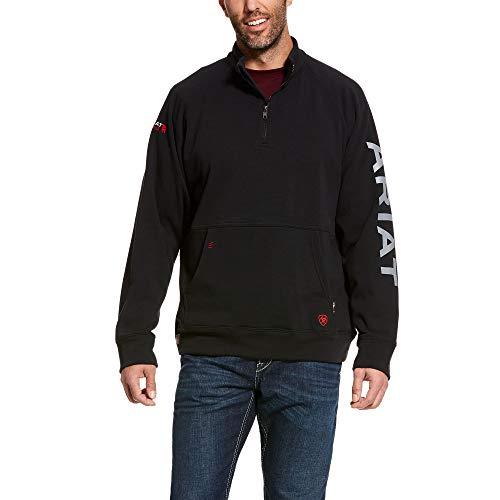 ARIAT Men's Fr Primo Fleece Logo 1/4 Zip Sweater Black Size 3Xlt