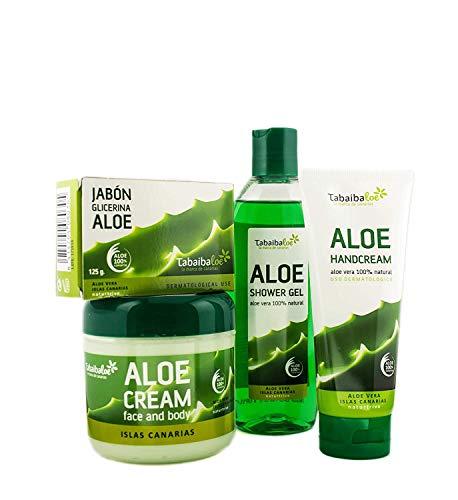 TABAIBA, Aloe Vera pack Reisetaschen Set Bad und Körperpflege Kosmetik Natürliche, 1 stück