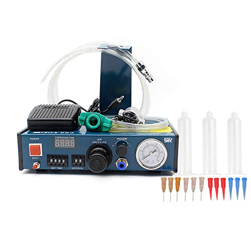 FEITA 983 Auto Digital Display Glue Dispenser AC 110v Automatic Solder Paste Liquid Adhesive Controller Dropper Machine