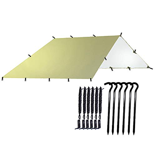 APXZC Waterproof Tent, Outdoor Sun Shelter, Reinforced Hanging Points Coating Sunscreen Coated with Silver Tear-Resistant, for Beach Camping and Self-Driving