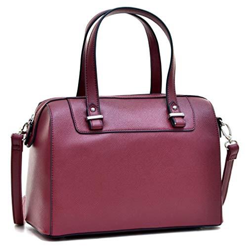 Faux Leather Handbags Barrel Top Handle Satchel Bag Shoulder Bag for Women