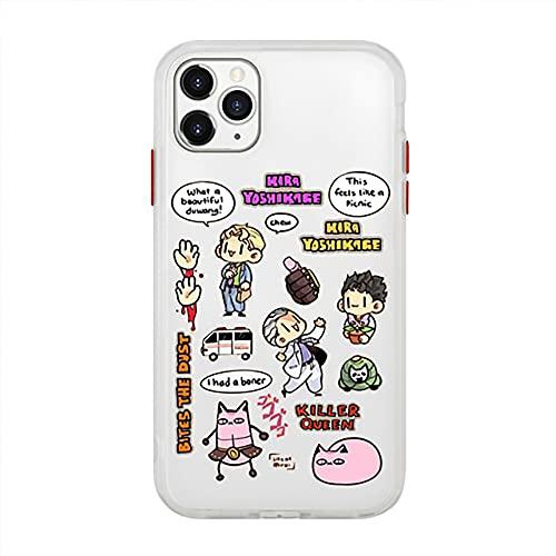 DAQAXGAO Jojo's Bizarre Adventure - Funda protectora para iPhone 8p/XS/XR/XSMAX/11/11 pro/11 pro max/12/12 Pro/SE, A, iPhone XS