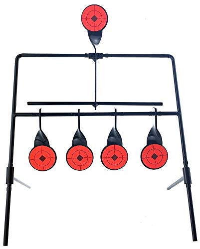 Airsoft magic Zielscheiben-System Spinning Targets für Luftpistolen und Luftgewehre Softair - Schwarz