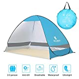 E-More Pop Up Beach Tent, Portable Automatic Outdoor Sun Shelter Waterproof Anti-UV Shade