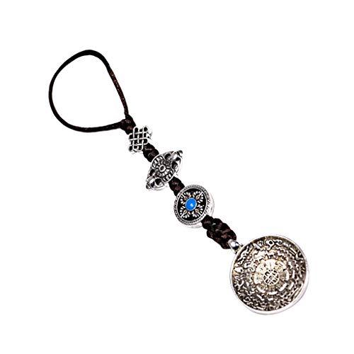 Sharplace Tibetischen Schamanen Buddhismus Glücks Kette Halskette mit Buddha Anhänger für Damen und Herren