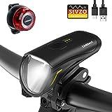 Linkbest Fahrradbeleuchtung Set Stvzo zugelassen USB wiederaufladbare Fahrradlicht
