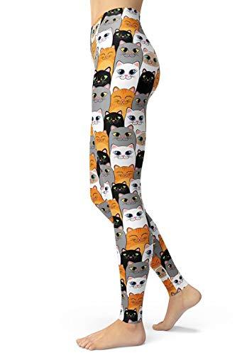 Lulucheri Cartoon Leggings Damen Print Tier Libelle Kaninchen Eule Katzen Leggings Design Yoga Laufen Hosen Mädchen Strumpfhosen Mode...