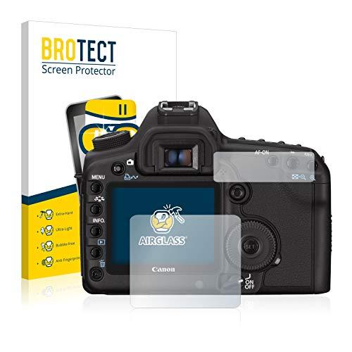 BROTECT Panzerglas Schutzfolie kompatibel mit Canon EOS 5D Mark II - AirGlass, 9H Härte, Anti-Fingerprint, HD-Clear