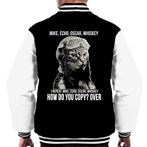 Cloud City 7 Cat Meow Acronym Kopieer je over Varsity Jacket voor heren