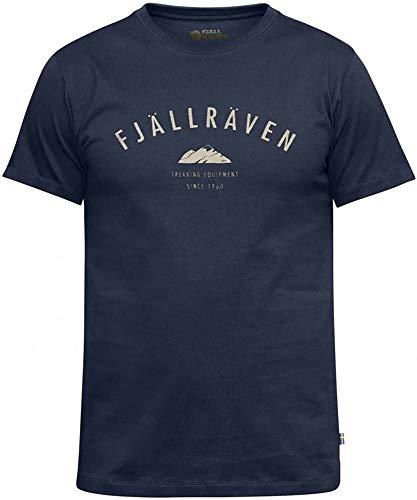 Fjallraven T-Shirt M avec Logo pour Homme M Bleu Marine